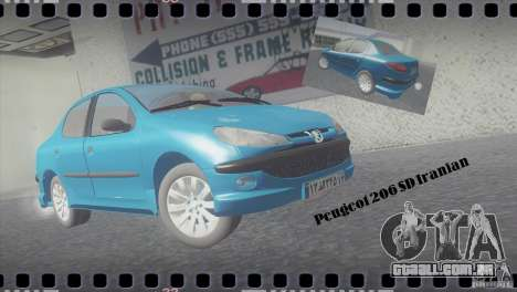 Peugeot 206 SD Iranian para GTA San Andreas