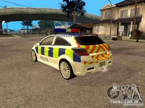 Opel Astra 2007 Police para GTA San Andreas esquerda vista