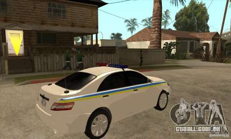 Toyota Camry 2010 SE Police UKR para GTA San Andreas vista direita