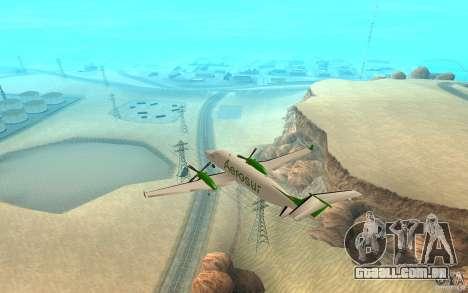 Beechcraft B1900D para GTA San Andreas esquerda vista