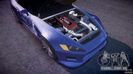 Honda S2000 Tuning 2002 2 pele para recozimento para GTA 4 vista superior