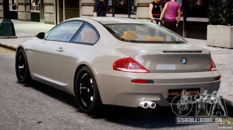 BMW M6 G-Power Hurricane para GTA 4 vista direita