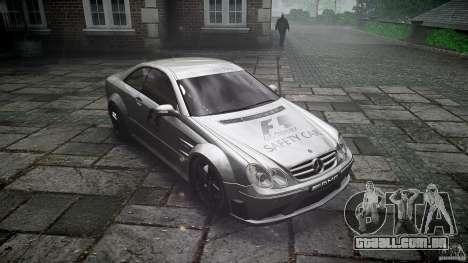 Mercedes Benz CLK63 AMG Black Series 2007 para GTA 4 vista de volta