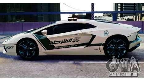 Lamborghini Aventador LP700-4 Dubai Police v1.0 para GTA 4 traseira esquerda vista