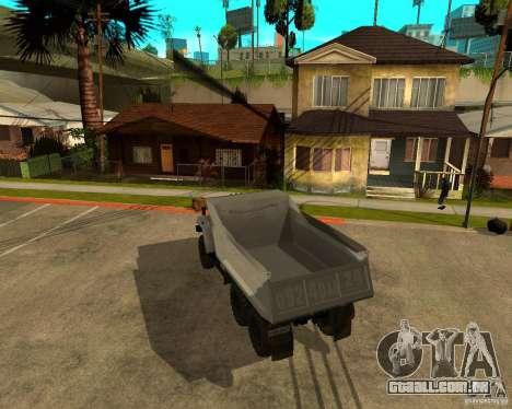Caminhão de descarga 55571 Ural para GTA San Andreas vista direita