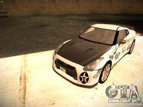Nissan GT-R para vista lateral GTA San Andreas
