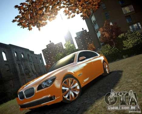 BMW 750Li  2010 para GTA 4 vista de volta