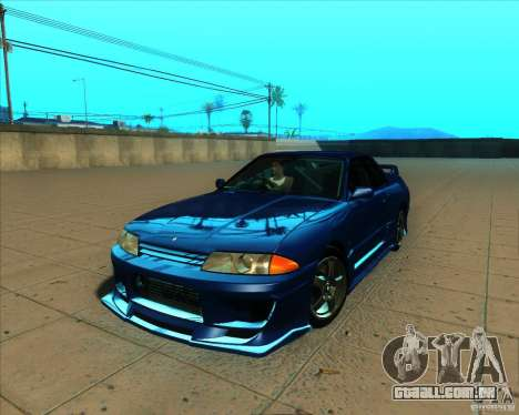 Nissan Skyline GT-R R32 1993 Tunable para GTA San Andreas vista inferior