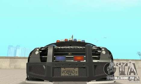 Lamborghini Gallardo Cop V1.0 para GTA San Andreas vista interior