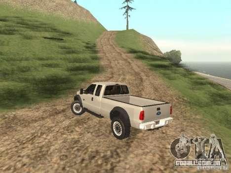 Ford Super Duty F-550 para GTA San Andreas vista direita