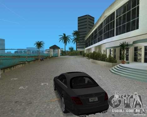 Mercedess Benz CL 65 AMG para GTA Vice City vista traseira