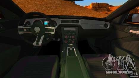 Ford Mustang Boss 302 2013 para GTA 4 vista de volta