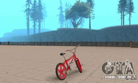 New BMX para GTA San Andreas esquerda vista