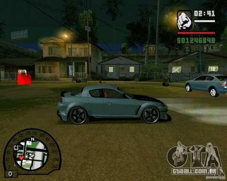Mazda RX8 JDM Style para GTA San Andreas traseira esquerda vista