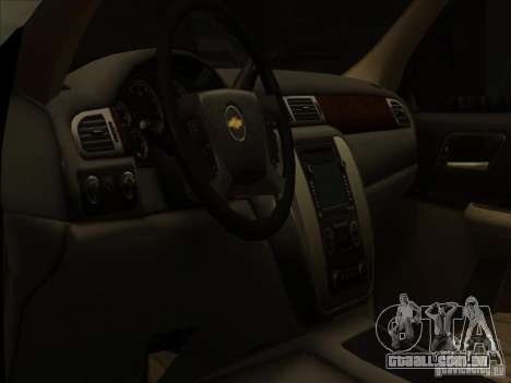 Chevrolet Silverado 3500 para GTA San Andreas vista interior