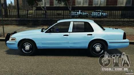 Ford Crown Victoria Police Unit [ELS] para GTA 4 esquerda vista
