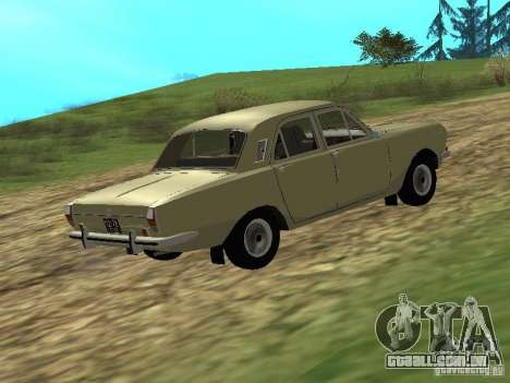 GAZ 24-01 para GTA San Andreas traseira esquerda vista
