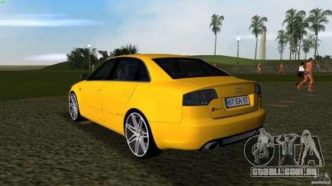 Audi RS4 para GTA Vice City vista traseira esquerda