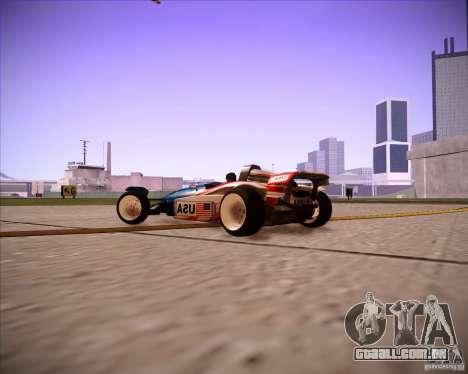 Track Mania Stadium Car para GTA San Andreas vista direita