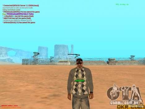 NV Goggles para GTA San Andreas por diante tela