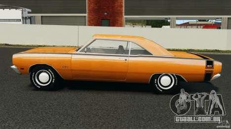 Dodge Dart GTS 1969 para GTA 4 esquerda vista