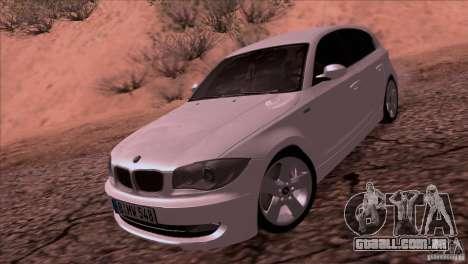 BMW 120i 2009 para GTA San Andreas traseira esquerda vista