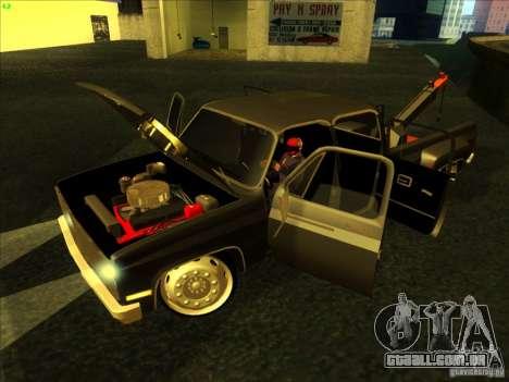 Chevrolet Silverado Towtruck para GTA San Andreas vista direita