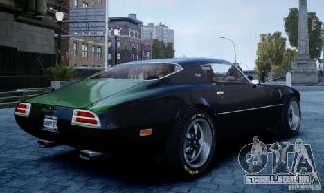 Pontiac Firebird 1971 para GTA 4 esquerda vista