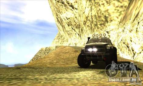 Dodge Ram All Terrain Carryer para vista lateral GTA San Andreas