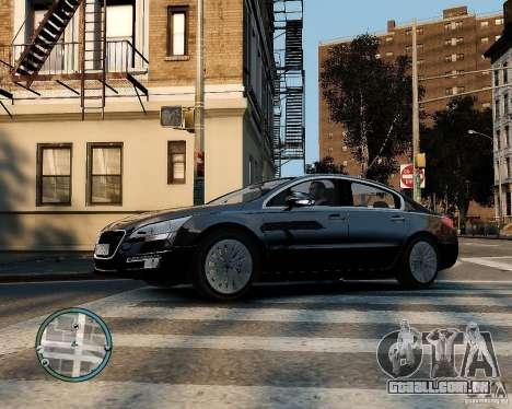 Pegeout 508 v2.0 para GTA 4 vista de volta