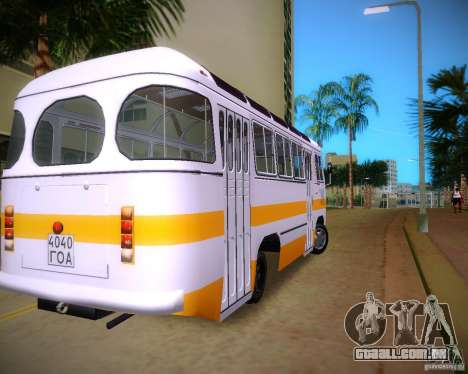 Paz-672 para GTA Vice City vista traseira esquerda
