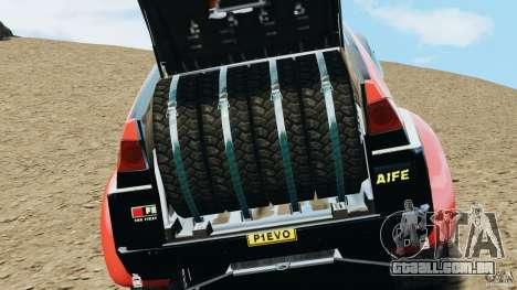 Mitsubishi Pajero Evolution MPR11 para GTA 4 vista de volta