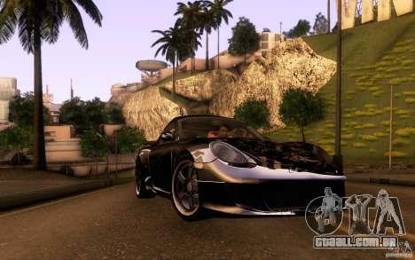 Ruf RK Coupe V1.0 2006 para GTA San Andreas interior