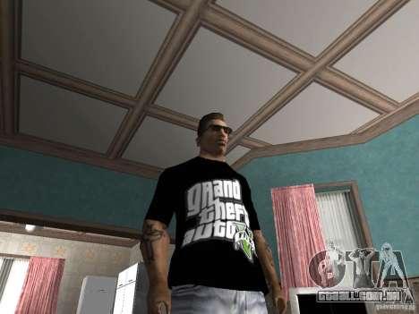 A t-shirt GTA 5 para GTA San Andreas segunda tela