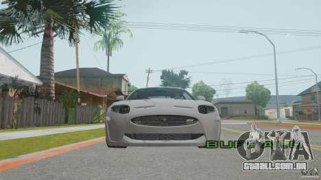 Jaguar XKR-S para GTA San Andreas vista interior
