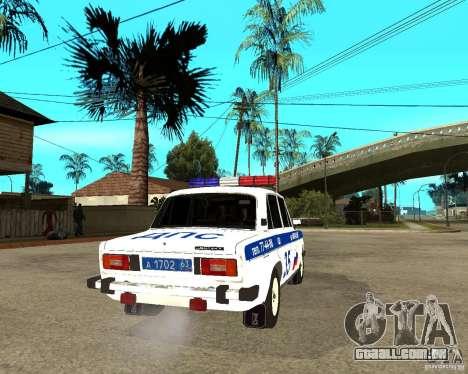 DPS VAZ 2106 para GTA San Andreas traseira esquerda vista