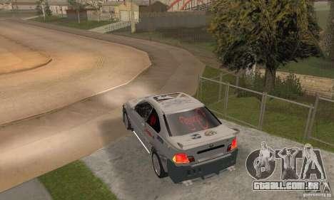 BMW M3 Hamman Street Race para GTA San Andreas esquerda vista