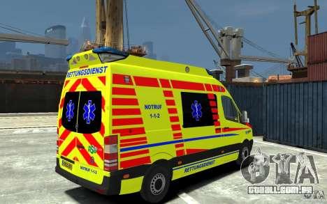 Mercedes-Benz Sprinter 2011 Ambulance para GTA 4 vista direita