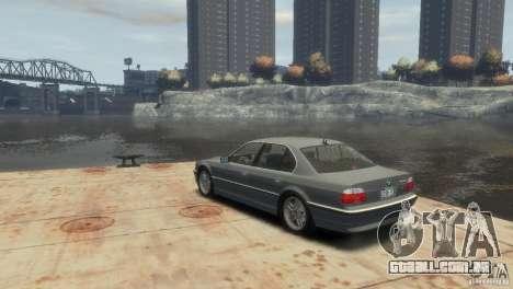 BMW 740i E38 para GTA 4 esquerda vista