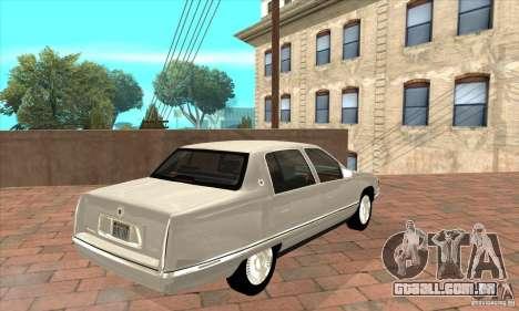 Cadillac Deville v2.0 1994 para GTA San Andreas vista direita