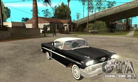 Chevrolet Impala 1958 para GTA San Andreas vista interior