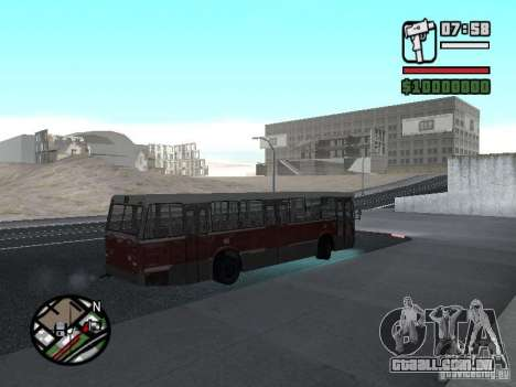 DAF CSA 1 City Bus para GTA San Andreas vista traseira
