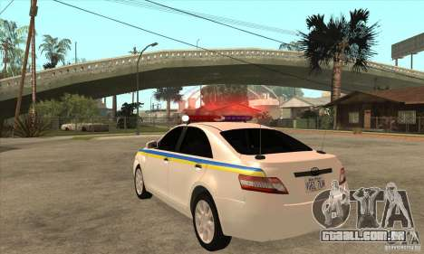 Toyota Camry 2010 SE Police UKR para GTA San Andreas