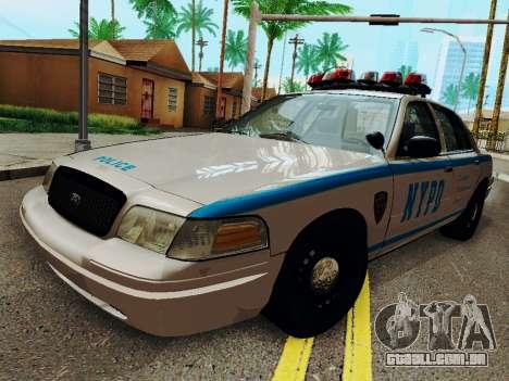 Ford Crown Victoria 2003 NYPD White para GTA San Andreas