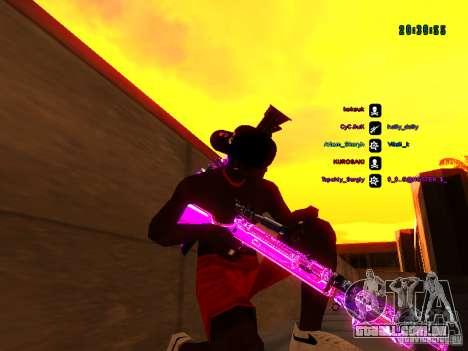 Cromo roxo em armas para GTA San Andreas sétima tela