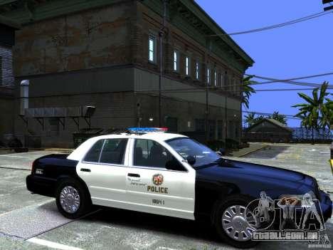 Ford Crown Victoria LAPD [ELS] para GTA 4 traseira esquerda vista