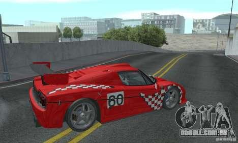 Ferrari F50 GT (v1.0.0) para GTA San Andreas vista direita