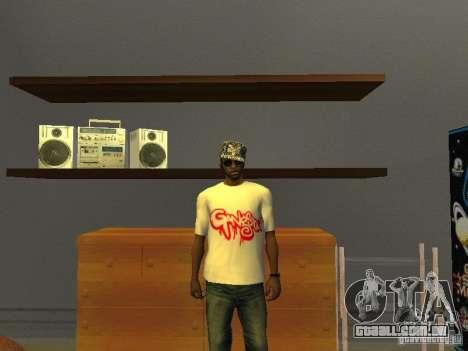 T-shirt gangsta para GTA San Andreas
