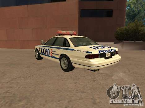 A polícia de GTA4 para GTA San Andreas vista direita