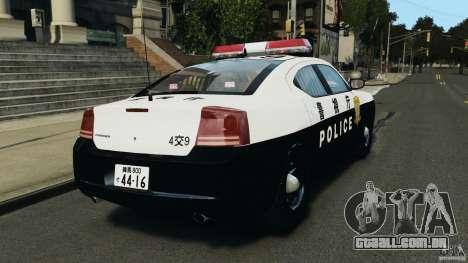Dodge Charger Japanese Police [ELS] para GTA 4 traseira esquerda vista